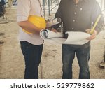 engineer discussing with... | Shutterstock . vector #529779862