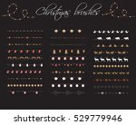 christmas pattern brushes big... | Shutterstock .eps vector #529779946