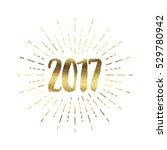 gold glitter foil new year... | Shutterstock . vector #529780942