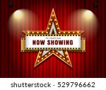 theater sign star shape on... | Shutterstock .eps vector #529796662