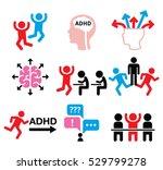 adhd   attention deficit...   Shutterstock .eps vector #529799278