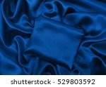Smooth Elegant Blue Silk Or...
