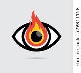 burning eye icon flat design | Shutterstock .eps vector #529811158