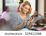 young woman using mobile phone... | Shutterstock . vector #529812388