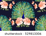beautiful vector floral... | Shutterstock .eps vector #529813306