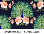 beautiful vector floral... | Shutterstock .eps vector #529813306