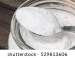 baking soda in glass bowl and... | Shutterstock . vector #529813606