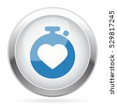 blue heart rate monitor icon on ... | Shutterstock . vector #529817245