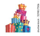 mountain gifts.vector set of... | Shutterstock .eps vector #529817506