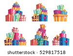 set of six piles of colorful...   Shutterstock .eps vector #529817518