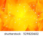 bright orange low poly... | Shutterstock .eps vector #529820602
