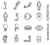 prosthetics icons set. medical... | Shutterstock .eps vector #529820746