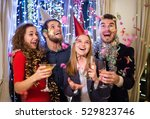 group of friends having party... | Shutterstock . vector #529823746