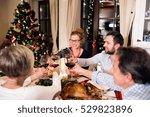 beautiful big family... | Shutterstock . vector #529823896