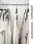 white cotton ladies tops on... | Shutterstock . vector #52982869
