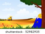 farmer paused at work in the... | Shutterstock .eps vector #52982935