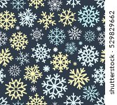 different vector snowflakes... | Shutterstock .eps vector #529829662