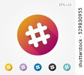 colored icon of grid symbol... | Shutterstock .eps vector #529830955