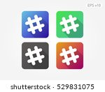 colored icon of grid symbol... | Shutterstock .eps vector #529831075