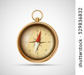 icon old metal compass. stock... | Shutterstock . vector #529836832