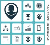 set of 12 human resources icons....