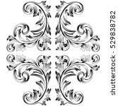 vintage baroque ornament ... | Shutterstock .eps vector #529838782