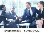 business people shaking hands... | Shutterstock . vector #529839922