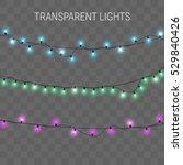 glowing lights. christmas... | Shutterstock .eps vector #529840426