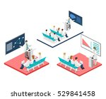 isometric flat 3d concept... | Shutterstock .eps vector #529841458