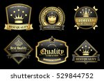 vintage golden premium quality... | Shutterstock .eps vector #529844752