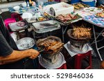 many cooking and selling street ... | Shutterstock . vector #529846036