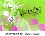 floral background for text | Shutterstock .eps vector #52984639