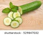fresh cucumber  chopped... | Shutterstock . vector #529847032