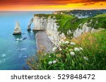 beautiful cliffs aval of... | Shutterstock . vector #529848472