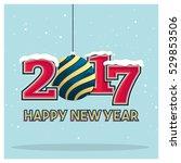 vintage happy new year... | Shutterstock .eps vector #529853506