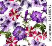 Floral Pattern Collage Flowers...