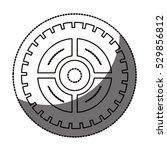 isolated gear design   Shutterstock .eps vector #529856812