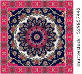 russian shawl. tablecloth....   Shutterstock .eps vector #529857442