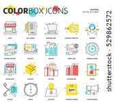 color box icons  shopping... | Shutterstock .eps vector #529862572