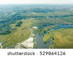 Aerial View Of Countryside Wit...