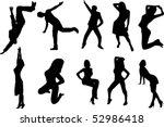 vector dance people | Shutterstock .eps vector #52986418