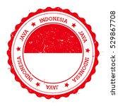 java flag badge. grunge rubber... | Shutterstock .eps vector #529867708