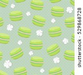 cute seamless pattern with... | Shutterstock .eps vector #529868728