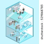 isometric flat 3d abstract... | Shutterstock .eps vector #529868785