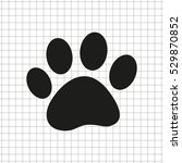 paw    black vector icon | Shutterstock .eps vector #529870852