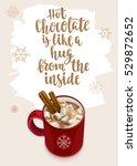 winter warming beverage quote.... | Shutterstock .eps vector #529872652