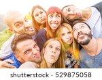 best friends taking selfie...   Shutterstock . vector #529875058