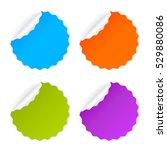 round vector sticker set... | Shutterstock .eps vector #529880086
