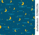 night sky seamless pattern... | Shutterstock .eps vector #529881256