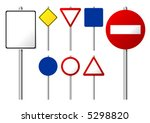 blank traffic signs isolated